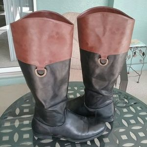 Merona Shoes - Black & Brown Riding Boots