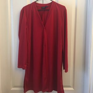 Sweaters - Long red cardigan size XL