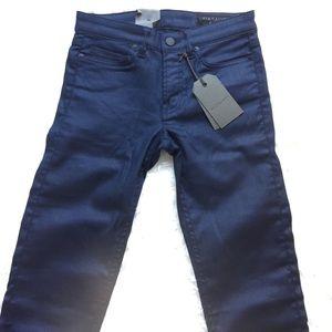 NWT [AllSaints] Navy Mast Coated Skinny Jeans - 26