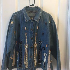 Jackets & Blazers - Cat Lover's size 2X denim jacket