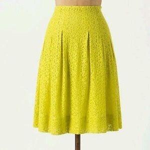 Anthropologie Dresses & Skirts - ✨New Anthropologie citron lace skirt