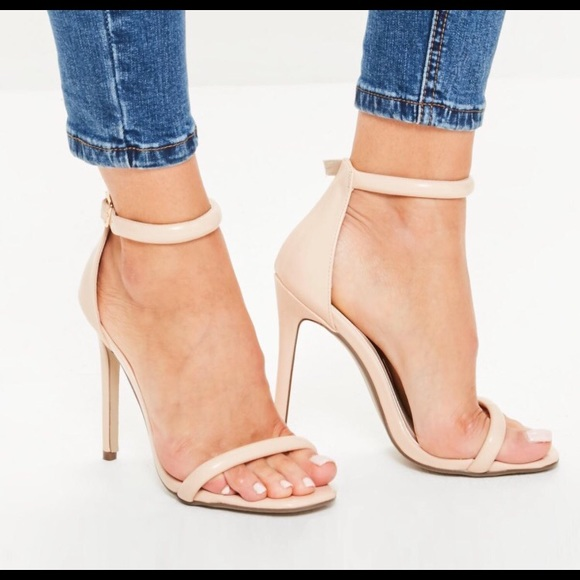 Nude Strap ShoesBnib 2 High Sandals Missguided Minimalist Heel OZuPkXi