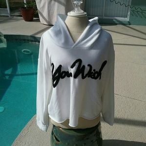 """Juicy Couture Tops - Juicy Couture """"You Wish"""" Cropped Hoodie"""