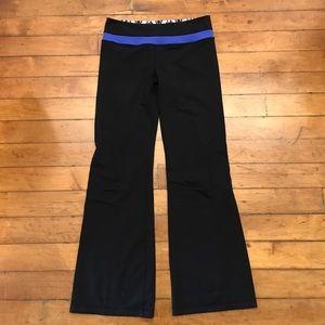 lululemon athletica Pants - Lululemon Black and Blue Yoga Pants Size 10