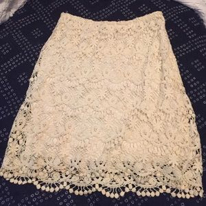 Aniina Dresses & Skirts - Cream lace skirt from nice boutique