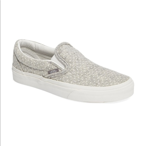 3784793191 Vans Light Grey Polka Dot Classic Slip On. M 59206f3ec6c79567bd062642