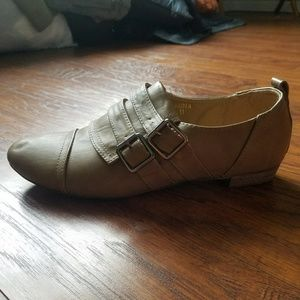 ModCloth Shoes - Modcloth Tan Flats with Buckles