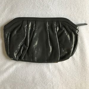 Bags - GAP gray patent leather clutch.