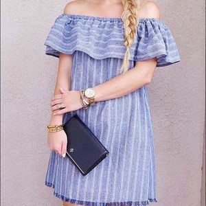 Dresses & Skirts - Striped Off The Shoulder Dress