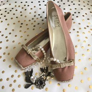 BOGO NWOT FS/NY Blush Espadrille Ballet Flats