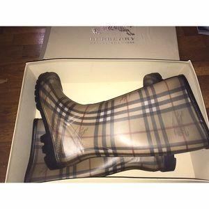 Authentic Burberry Rain Boots