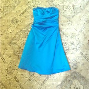 Alfred Angelo Dresses & Skirts - Alfred Angelo Marine Blue Strapless Dress