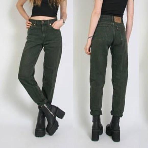 5e703220ec1 ASOS Jeans | Vintage Levis Military Green High Waist 550 | Poshmark