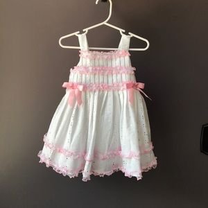 Bonnie Baby Other - Pink and white summer dress