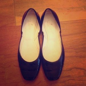 Hogan Shoes - Black patent ballet flats by Hogan