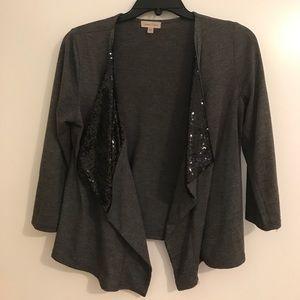 Dark grey sequence cardigan