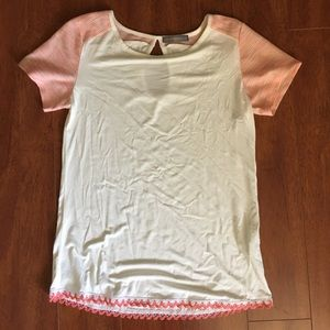 Loveappella Tops - NWT cute white and pink top