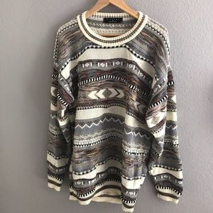 Other - Coogie style Cosby vintage textured sweater L