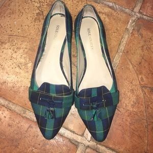 Sole Society Shoes - Sole Society Plaid Flats