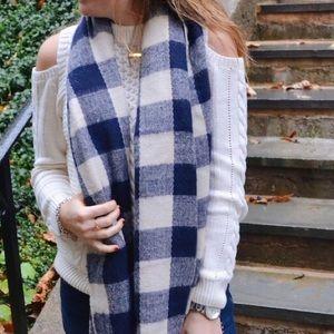 ASOS cold-shoulder cable knit