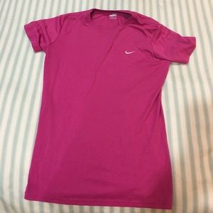 Pink Fitdry Nike workout tee shirt