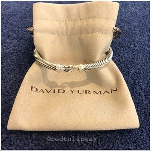 Auth. David Yurman 5mm Cable Bracelet w/Diamonds