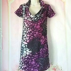 vixon Dresses & Skirts - Beautiful purple, black, white, blue, gray dress