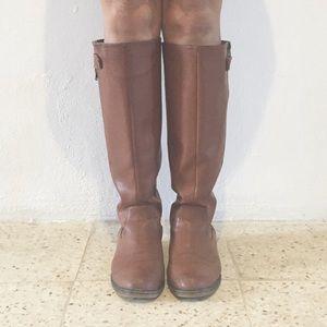 Girl Mia Shoes - Tan Riding Boots