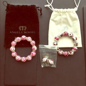 Angela Moore Jewelry - Angela Moore bracelet set with earrings