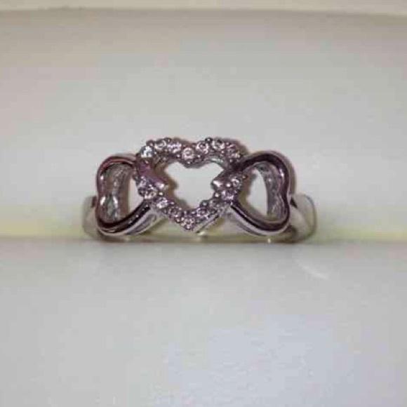 33 off jewelry 10k stamped diamonds hearts ring sz 7 for Diamond stamp on jewelry
