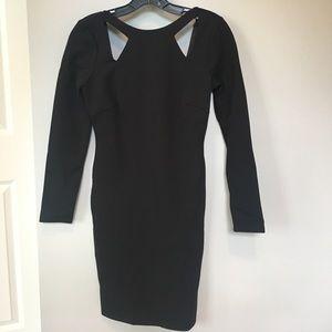 Halston Heritage Black Ponte Dress