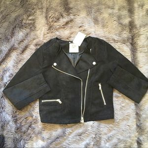 H&M Other - H&M girls suede motor jacket