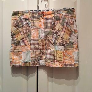 Tailor Vintage Dresses & Skirts - Tailor Vintage Patchwork Mini Skirt-Size 8