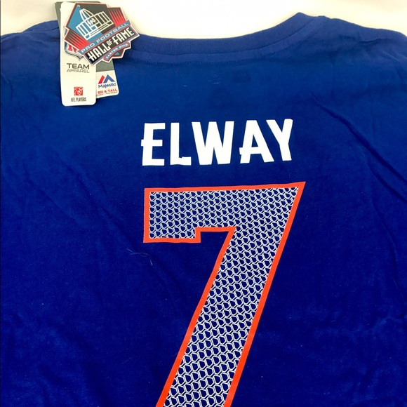 de12886d3 Big and Tall John Elway Majestic Hall of Fame Tee