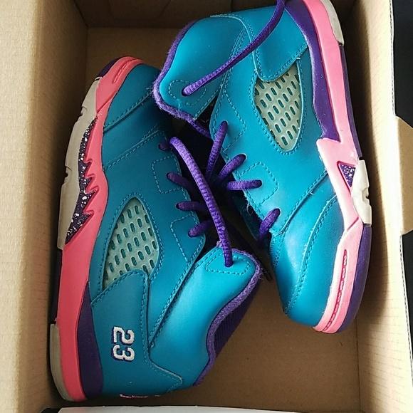 new style c7fb2 12b97 Jordan 5 Retro Toddler Girls size 8C