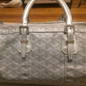 Goyard Handbags - Limited Edition Silver Goyard Croisiere 35