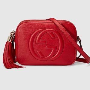 Gucci Handbags - Gucci Red Disco Bag