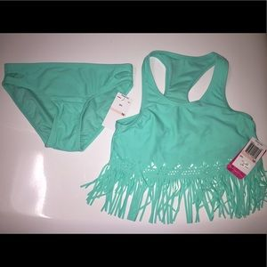 Gossip Girl Other - Gossip Girl light aqua green girls bathing suit