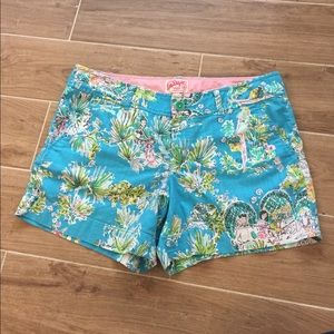 Lilly Pulitzer Pants - Lilly Pulitzer Printed Cotton Shorts Size 10