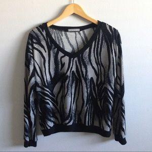 Olivia Moon Tops - Olivia Moon Zebra Print Top