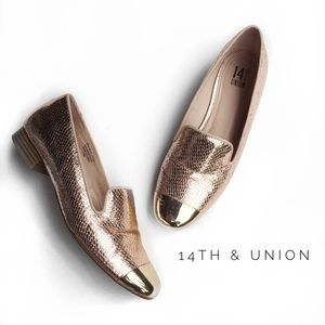14th & Union Shoes - • 14th & union gold loafers •
