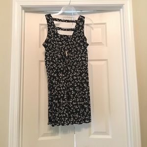 Forever 21 Black dress with white floral print