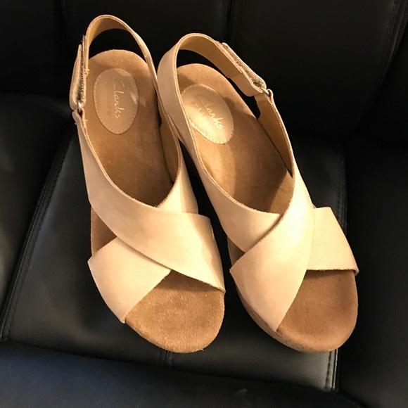 3faab7d1bc Clarks Shoes   Caslynn Shae Wedge Sandal 75   Poshmark