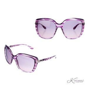 Valentino Rockstuds Oversized Sunglasses Purple
