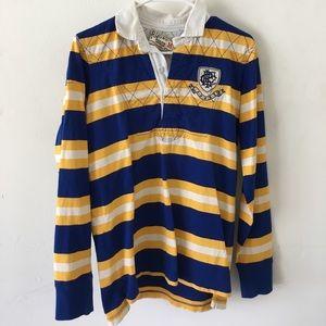 Rugby Ralph Lauren Tops - Rugby Ralph Lauren yellow and blue stripe shirt