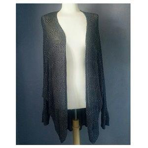 A+ Ellen Sweaters - A+ Ellen cocoon black Cardigan
