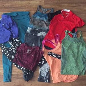 Nike workout lot-   -  ALL IN PICTURE FOR $40