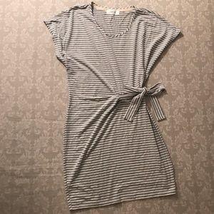 Peach Love California Dresses & Skirts - Grey striped mini dress.