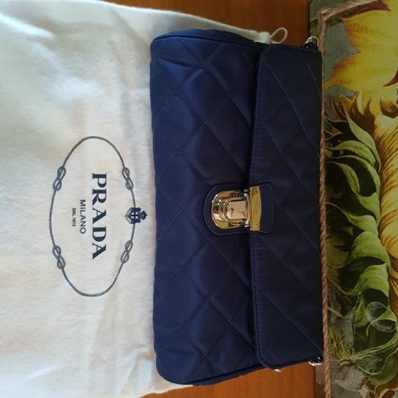 7560ffae99f9 Prada Bags | Nwt Royal Blue Quilted Clutch W Chain | Poshmark