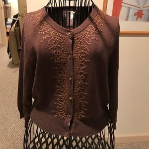 Central Park West Sweaters - Central Park West Embellished Cardigan PM